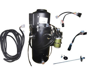 China 20 KW 12V Black Oil Filled Diesel Bus Heater With Atomizer System supplier